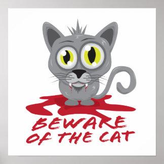 Guárdese del gato póster
