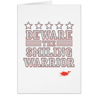 Guárdese del guerrero sonriente felicitacion