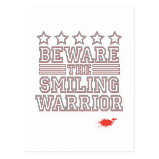 Guárdese del guerrero sonriente postal