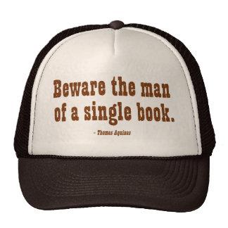 Guárdese del hombre de un solo libro gorros