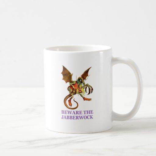 Guárdese del Jabberwock, mi hijo. Los mandíbulas q Taza De Café