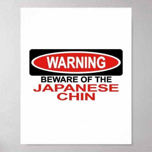 Guárdese del japonés Chin Poster