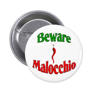 Guárdese del Malocchio (el mal de ojo) Pin Redondo De 2 Pulgadas