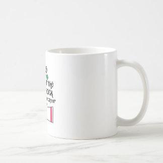 Guárdese del monstruo del calcetín taza de café