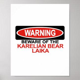 Guárdese del oso carelio Laika Posters