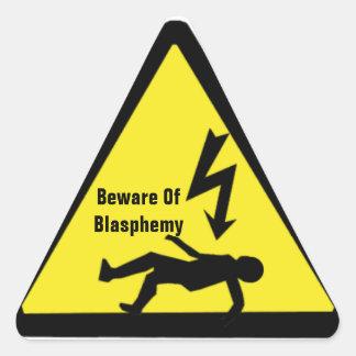 Guárdese del pegatina de la blasfemia