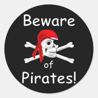 Guárdese del pegatina de los piratas