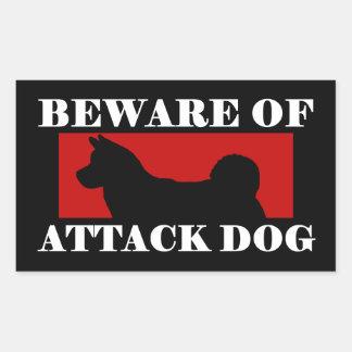 Guárdese del perro de ataque - Akita Rectangular Altavoces