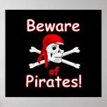 Guárdese del poster de los piratas