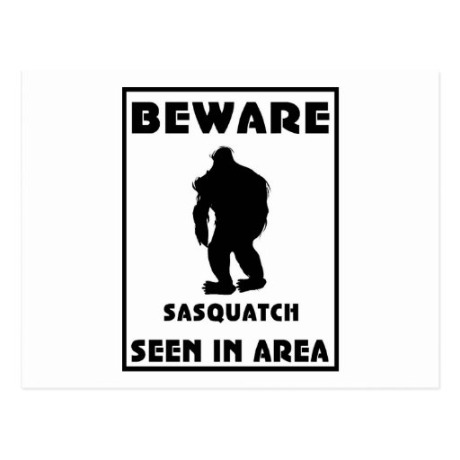 Guárdese del poster de Sasquatch Postal