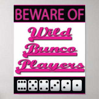 guárdese del poster salvaje de los jugadores del b