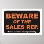 Guárdese del representante de las ventas impresiones