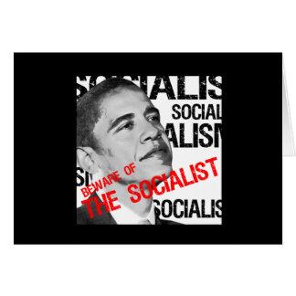 Guárdese del socialista tarjeta de felicitación