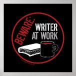 Guárdese: Escritor en el trabajo Impresiones