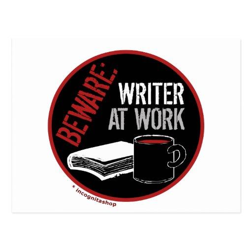 Guárdese: Escritor en el trabajo Tarjeta Postal