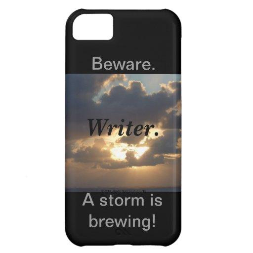 Guárdese. Escritor. ¡Una tormenta está elaborando Funda iPhone 5C