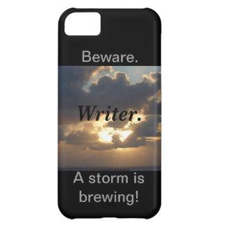 Guárdese. Escritor. ¡Una tormenta está elaborando  Funda Para iPhone 5C