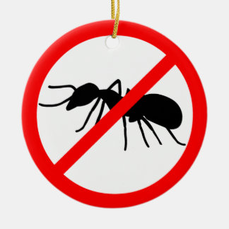 ¡Guárdese, las hormigas! Adorno Redondo De Cerámica