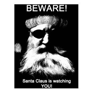 Guárdese--¡Santa le está mirando! Tarjetas Postales