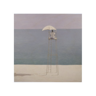 Guardia 2004 de la playa cuadro de madera