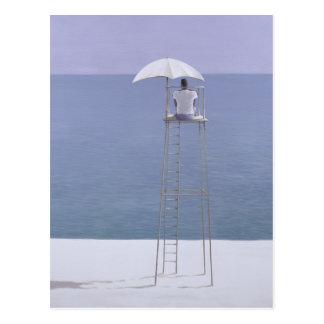 Guardia 2004 de la playa tarjeta postal