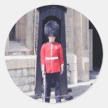 Guardia blanco de las torres pegatinas redondas