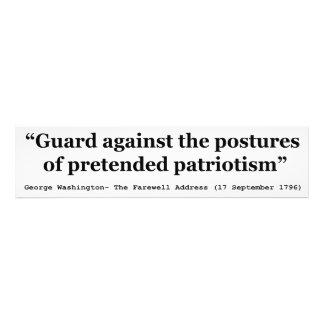Guardia contra las posturas del patriotismo fingid impresion fotografica