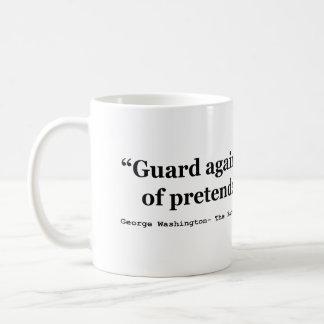 Guardia contra las posturas del patriotismo fingid taza de café