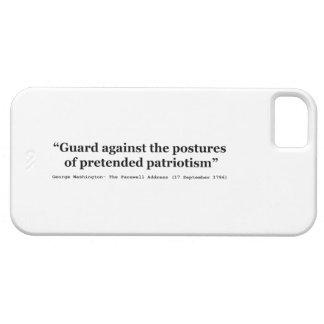 Guardia contra las posturas del patriotismo iPhone 5 carcasas