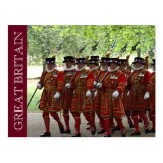 guardia de británicos del terrateniente postales