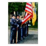 Guardia de honor de la policía tarjeta