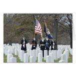 Guardia de honor del cementerio nacional de tarjeta pequeña