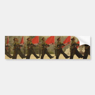 Guardia de honor militar chino en columna pegatina para auto