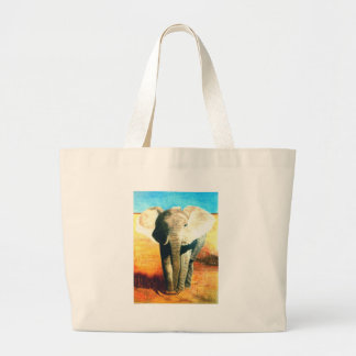 Guardia de la situación del elefante bolsa tela grande