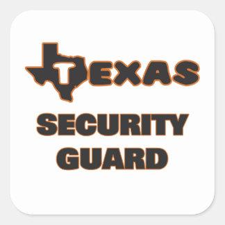 Guardia de seguridad de Tejas Pegatina Cuadrada