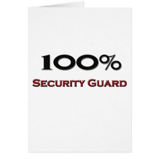 Guardia de seguridad del 100 por ciento tarjetas