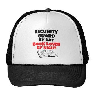 Guardia de seguridad del aficionado a los libros d gorras de camionero