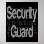 Guardia de seguridad Extraordinaire Póster