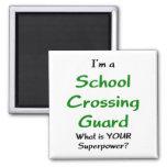 Guardia de travesía de escuela imán cuadrado