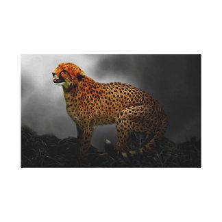 Guardia del alcohol del guepardo impresion de lienzo