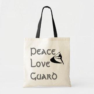 Guardia del amor de la paz bolsa tela barata