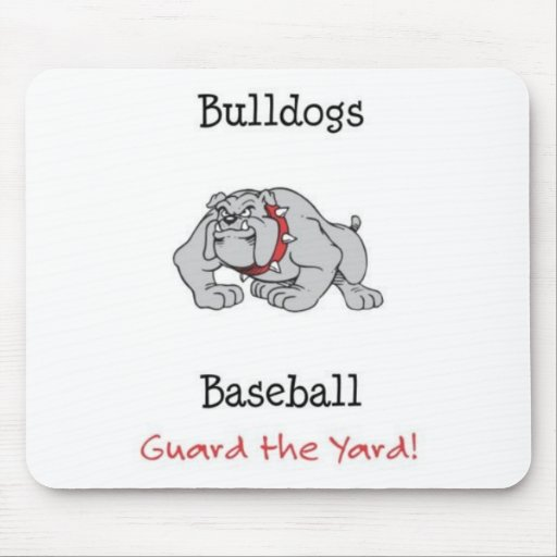 ¡Guardia del béisbol de los dogos la yarda! Mouse Pad