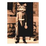 Guardia del hombre del gato tarjetas postales