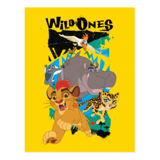 Guardia del león el | los salvajes postales