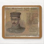 Guardia del ojo de Warren del vintage Tapetes De Raton