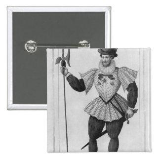 Guardia del provostship de París Pin Cuadrada 5 Cm