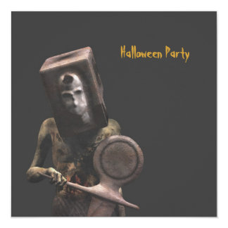 Guardia del zombi - invitación de Halloween