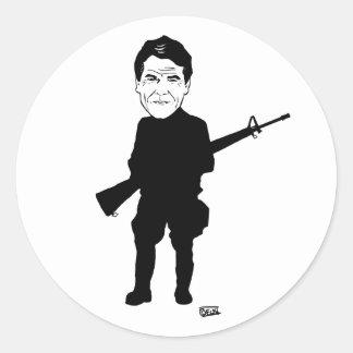 Guardia fronterizo de Rick Perry Etiquetas Redondas