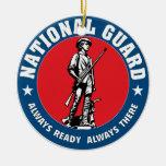 Guardia Nacional Adorno Navideño Redondo De Cerámica