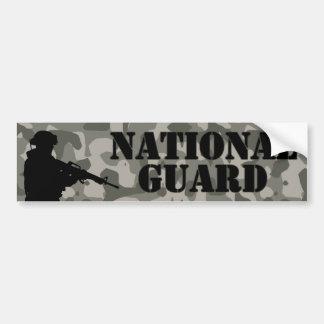 Guardia Nacional Camo Etiqueta De Parachoque